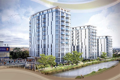 Century Tower, Chelmsford, Essex An ongoing development of 300 apartments located close to the Essex Cricket Ground
